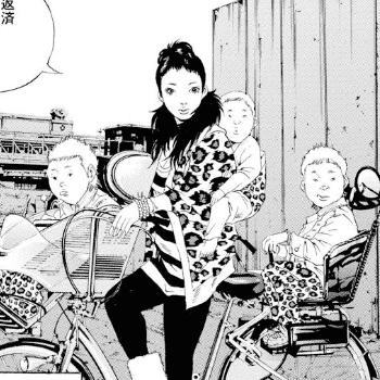 自転車に子供三人